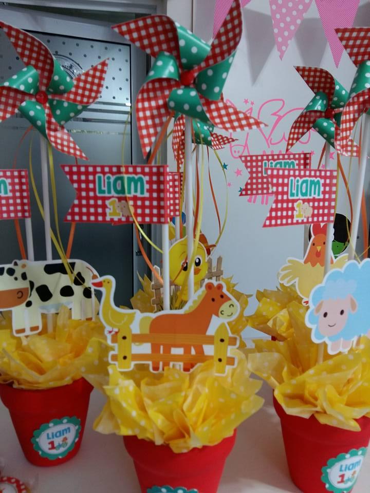 Decoraci n cumplea os animales 2 createva - Cabezas de animales decoracion ...